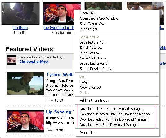 التحميل يوتيوب باستخدام Free Download
